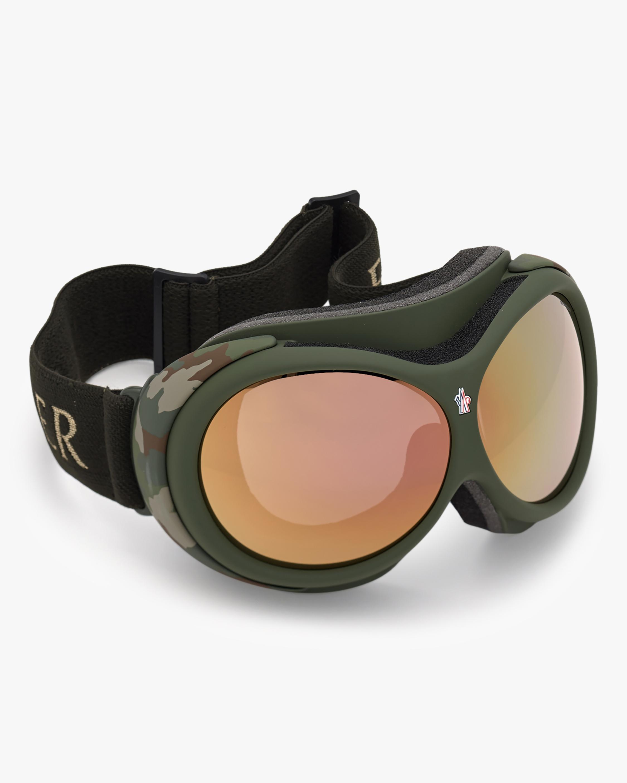 Moncler Matte Green Ski Goggles 5