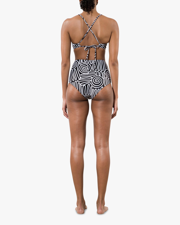 Mara Hoffman Lydia High-Waisted Bikini Bottom 1