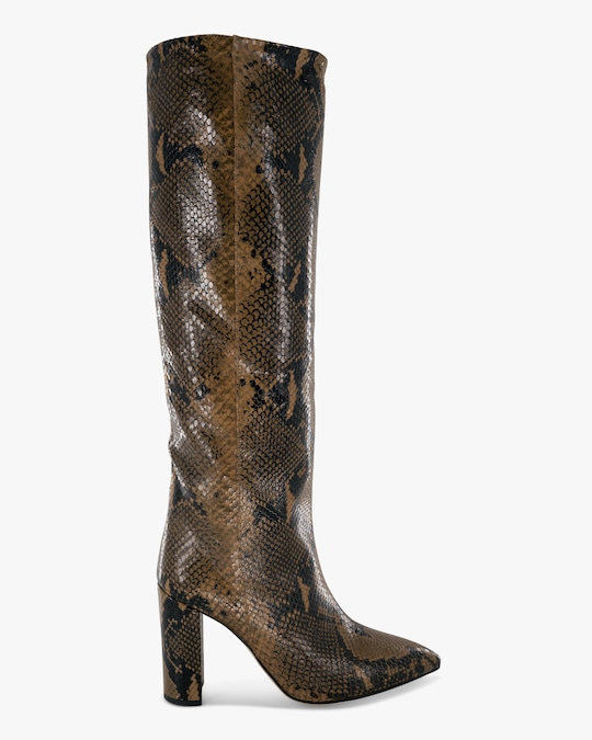 Paris Texas Python-Embossed Leather Boot 0