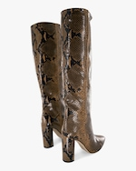 Paris Texas Python-Embossed Leather Boot 2