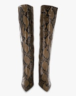 Paris Texas Python-Embossed Leather Boot 3