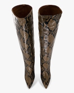 Paris Texas Python-Embossed Leather Boot 4
