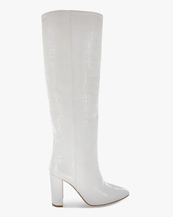 Paris Texas Croc-Embossed Leather Boot 1