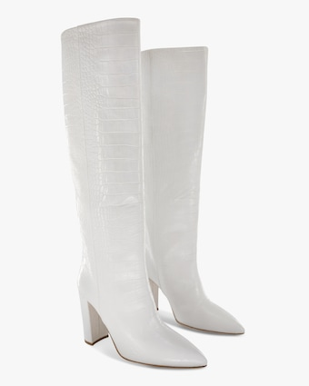 Paris Texas Croc-Embossed Leather Boot 2