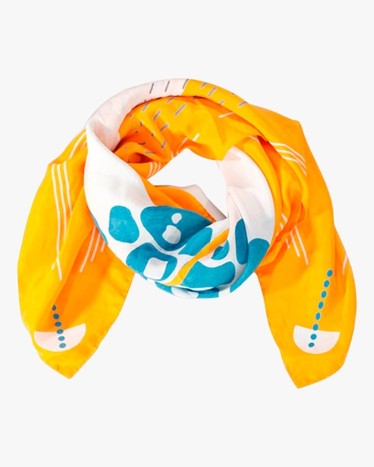 This Same Sky Root Silk Scarf 0
