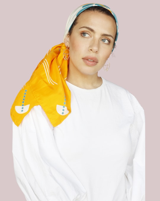This Same Sky Root Silk Scarf 1