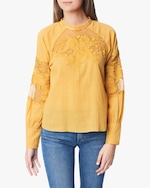 Joe's Jeans Marjorie Lace-Panel Blouse 0
