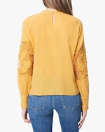 Joe's Jeans Marjorie Lace-Panel Blouse 2