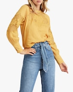 Joe's Jeans Marjorie Lace-Panel Blouse 3