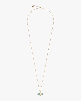 UNOde50 Crystal Clear Long Necklace 1