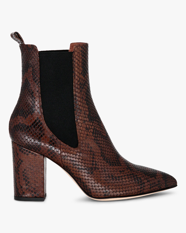 Paris Texas Python-Print Ankle Boot 1