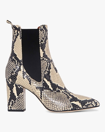 Paris Texas Python-Print Ankle Boot 1