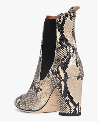 Paris Texas Python-Print Ankle Boot 2
