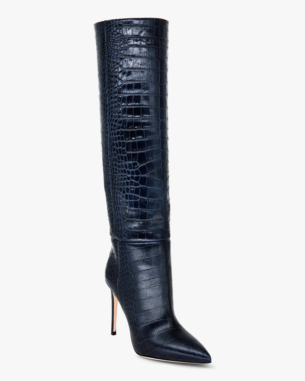 Paris Texas Croc-Embossed Stiletto Boot 2