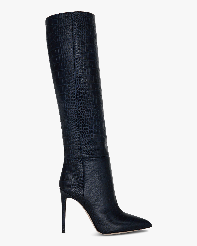 Paris Texas Croc-Embossed Stiletto Boot 1