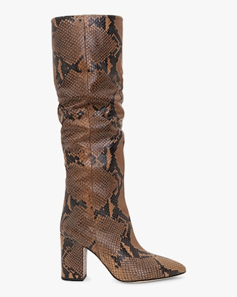 Paris Texas Python-Print Tall Boot 1