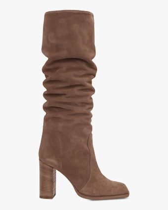 Paris Texas Velour Square-Toe Tall Boot 2