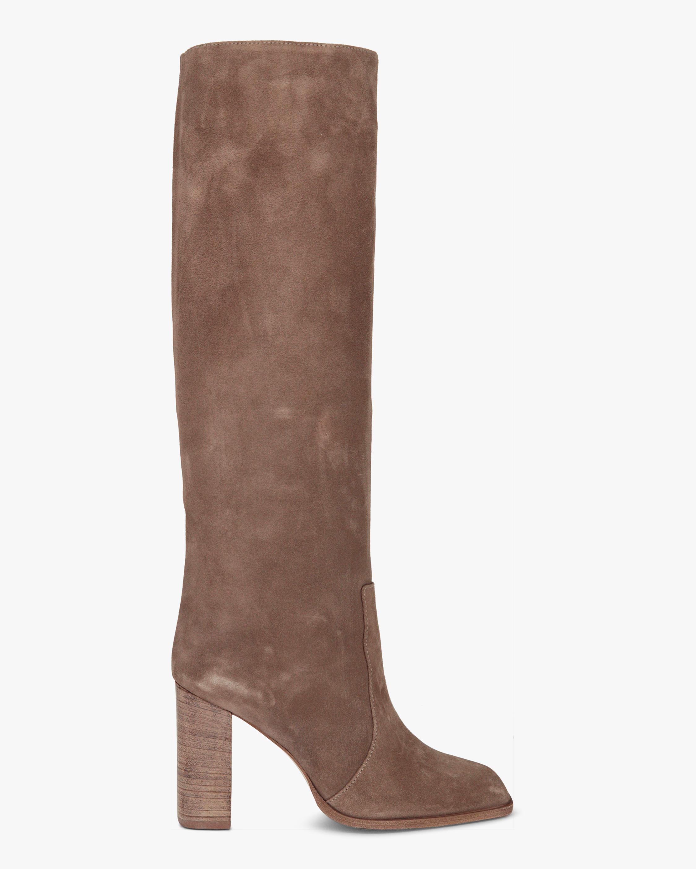 Paris Texas Velour Square-Toe Tall Boot 1