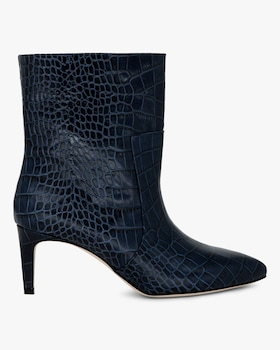 Croc-Embossed Stiletto Bootie