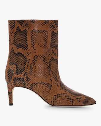 Paris Texas Python-Print Stiletto Bootie 1