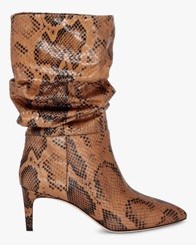 Paris Texas Python-Print Slouchy Boot 1