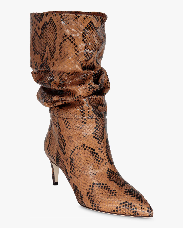 Paris Texas Python-Print Slouchy Boot 2