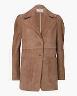 Dorothee Schumacher Velour Softness Suede Jacket 0