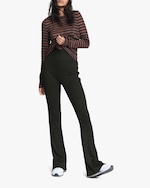 rag & bone The Knit Ribbed Flared Pants 1