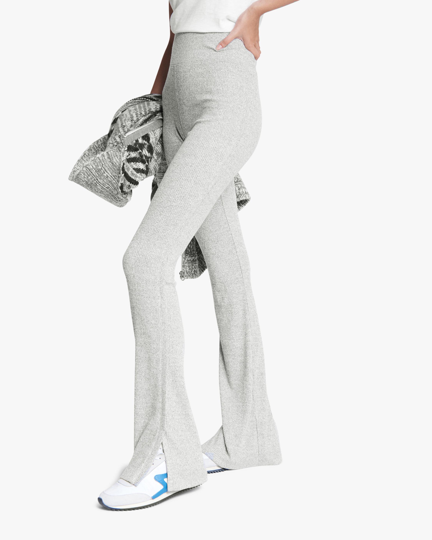 rag & bone The Knit Ribbed Flared Pants 1