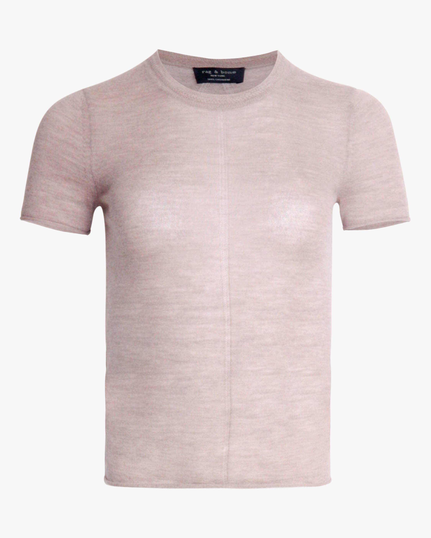 rag & bone Mandee Short-Sleeve Cashmere Tee 2