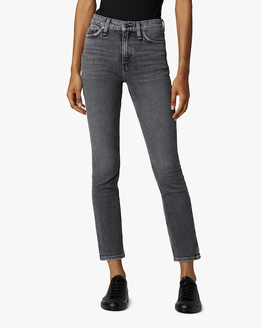 Hudson Holly High-Rise Straight Ankle Jeans 1