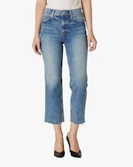 Hudson Remi High-Rise Straight Crop Jeans 0