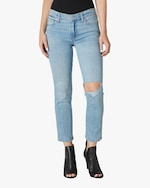 Hudson Nico Mid-Rise Straight Crop Jeans 0