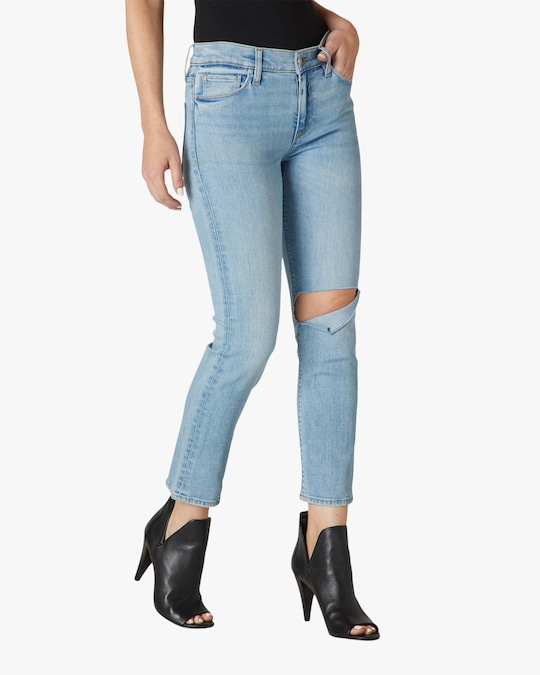 Hudson Nico Mid-Rise Straight Crop Jeans 1