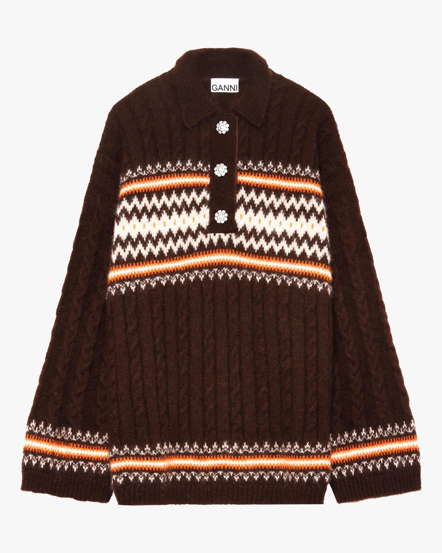Ganni Fine Alpaca Knit Oversized Blouse 0