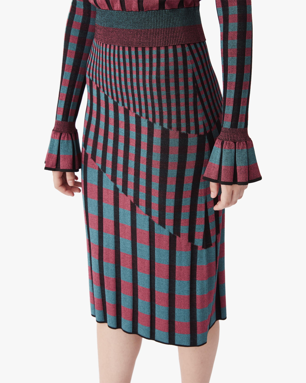 Diane von Furstenberg Rosa Knit Midi Skirt 0
