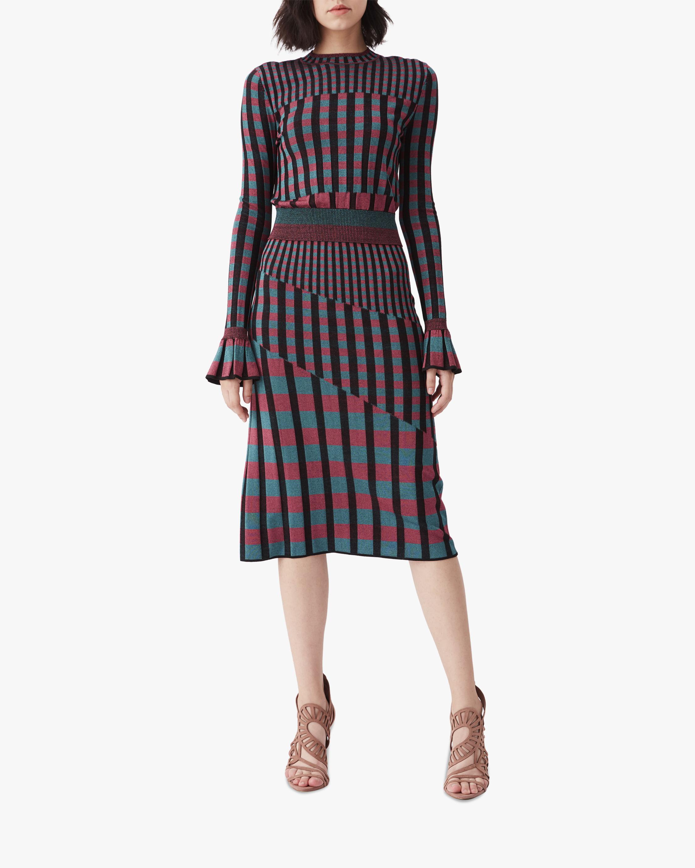 Diane von Furstenberg Rosa Knit Midi Skirt 2