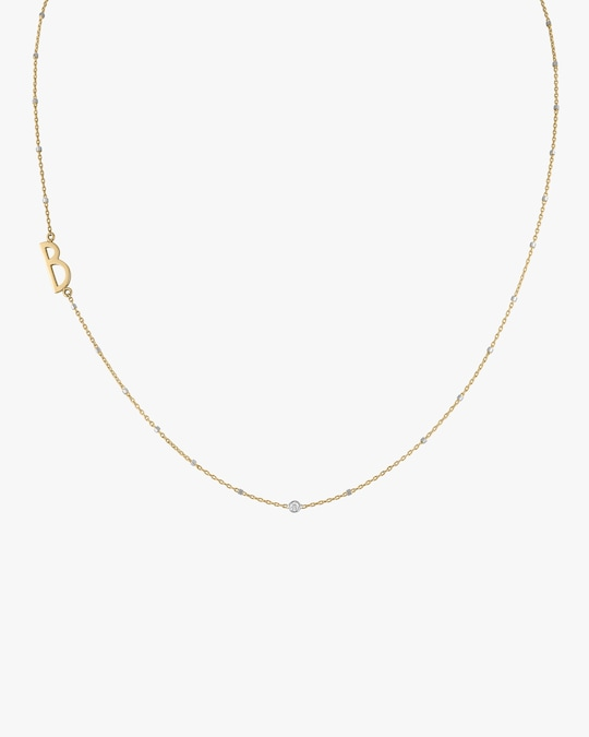 kWIT Diamond Letter Necklace 0