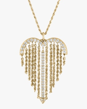 Fringe Heart Necklace