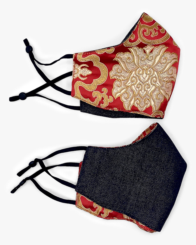 EX VOTO Masks Golden Lotus Charlie Reversible Face Mask 1