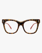 MITA Havana Oversized Blue Block Glasses 0