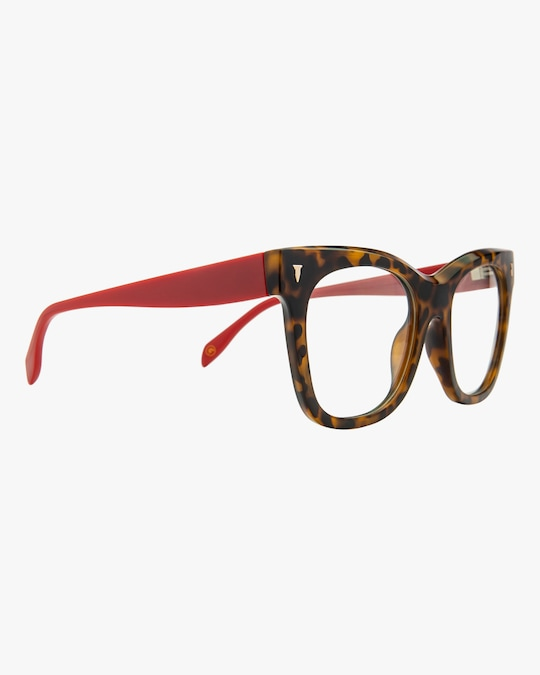 MITA Havana Oversized Blue Block Glasses 1