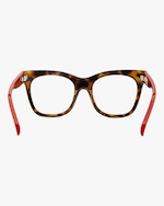 MITA Havana Oversized Blue Block Glasses 3