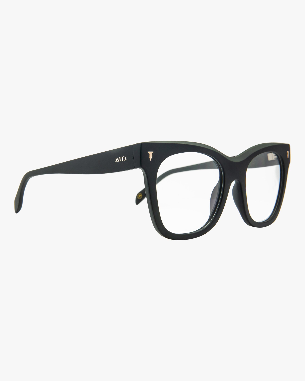 MITA Black Oversized Blue Block Glasses 1