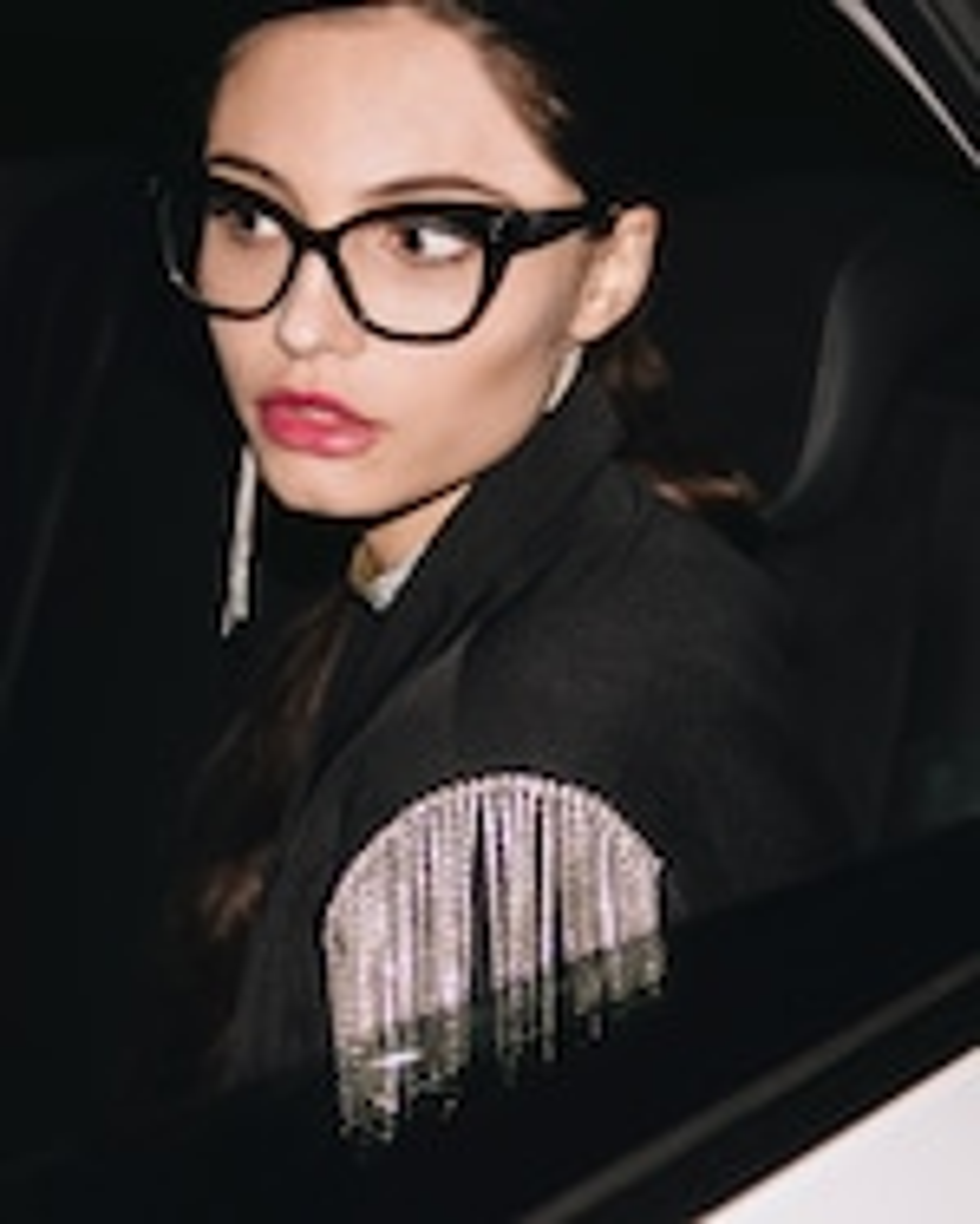 MITA Black Oversized Blue Block Glasses 4