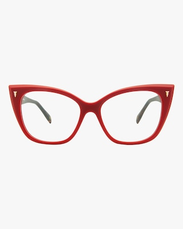 MITA Red Cat-Eye Blue Block Glasses 1