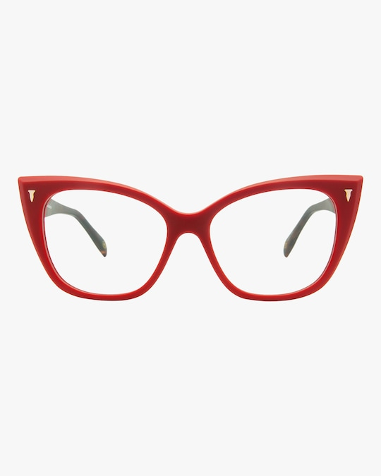 MITA Red Cat-Eye Blue Block Glasses 0