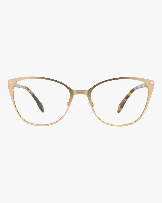 MITA Gold Butterfly Blue Block Glasses 1