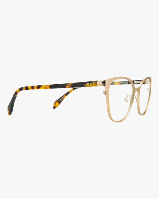 MITA Gold Butterfly Blue Block Glasses 1