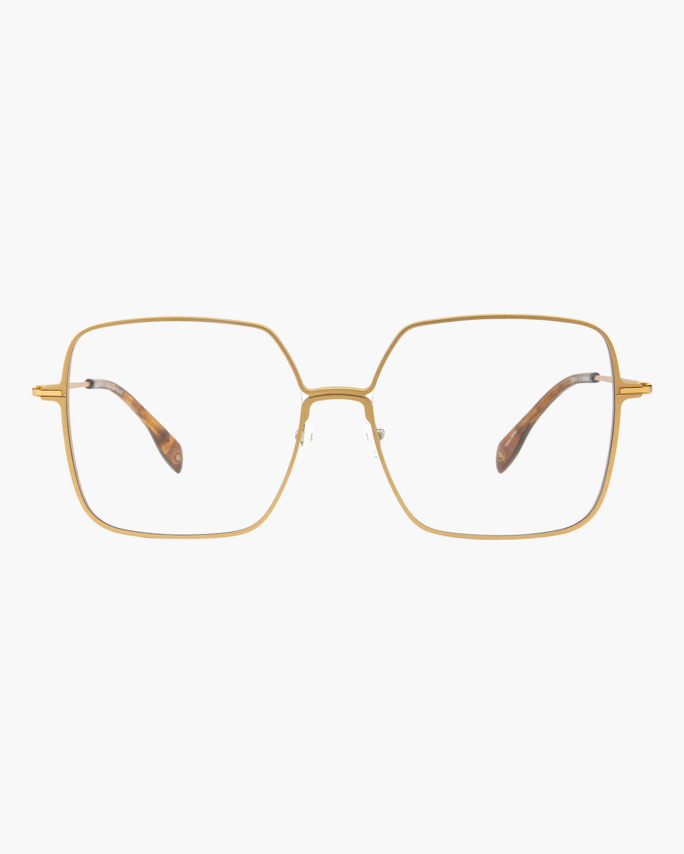 MITA Gold Oversized Blue Block Glasses 1